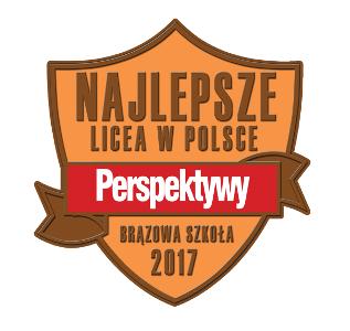 """Tytuł """"Brązowej Szkoły 2017"""" dlaLiceum Ogólnokształcącego im.Artura Grottgera wGrybowie"""