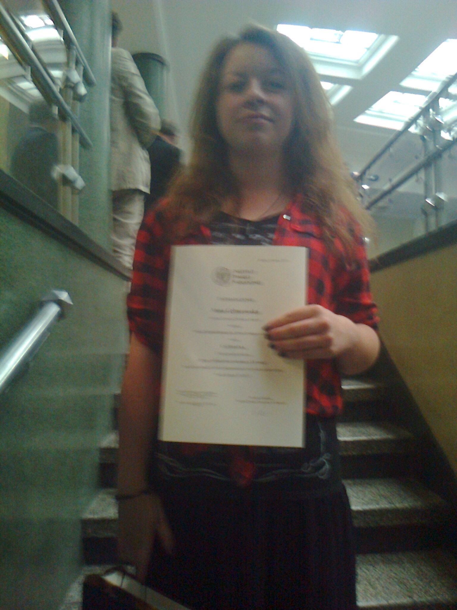 Ania laureatką konkursu Instytutu Pamięci Narodowej