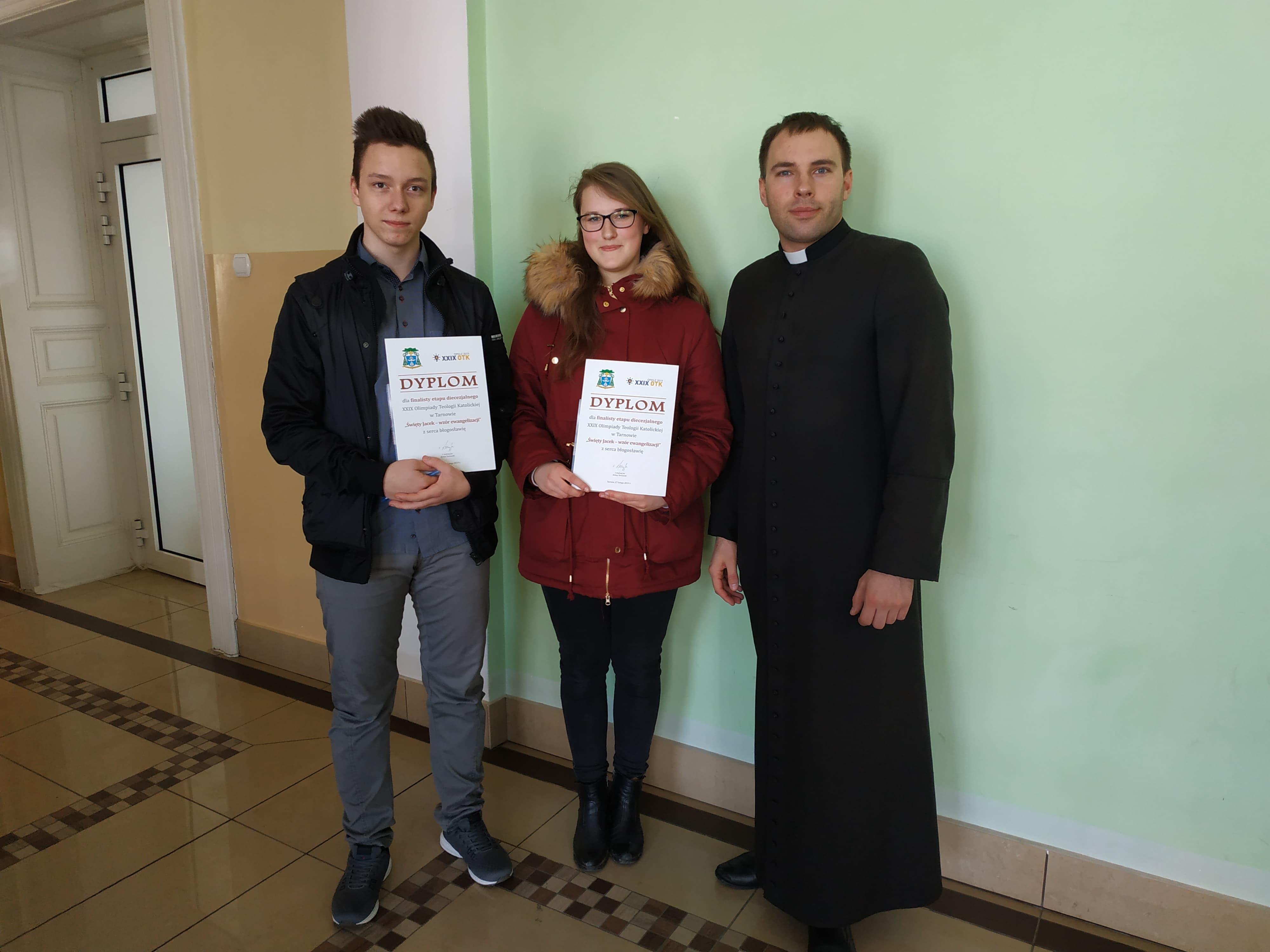 Uczniowie Liceum w XXIX Olimpiadzie Wiedzy Teologicznej w Tarnowie