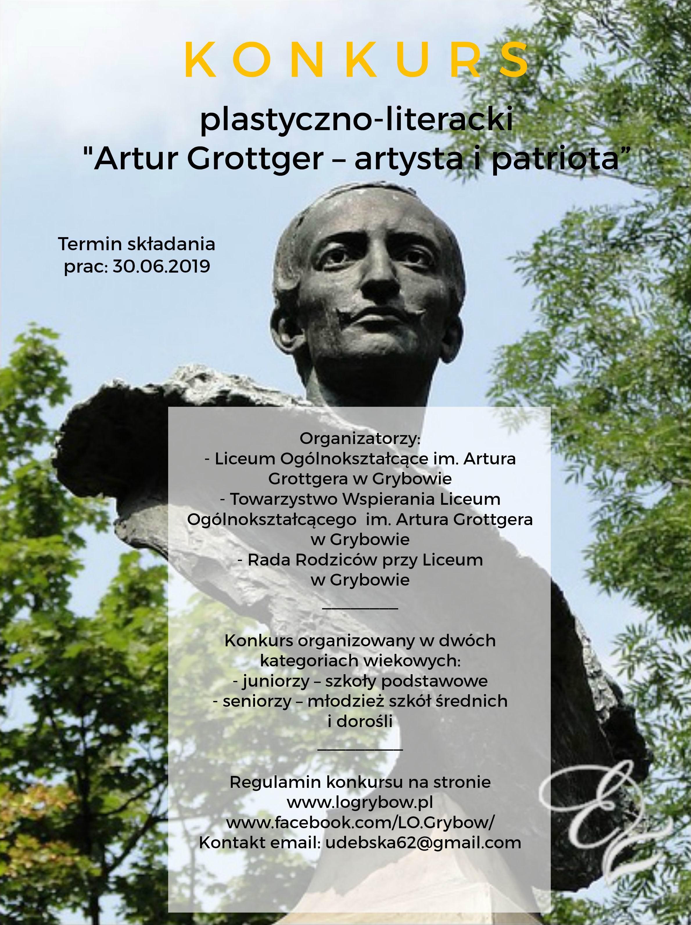 Zaproszenie na konkurs plastyczno-literacki o Arturze Grottgerze