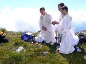 Msza św. na szczycie góry Hochstaufen
