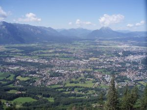 Panorama Salzburga z góry Gaisberg