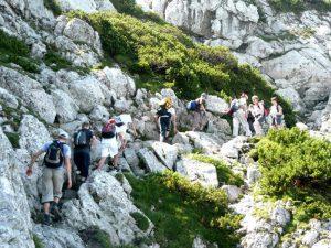 Zdobywanie szczytu Hochstaufen